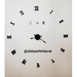 Pleksi Saat Büyük Akrep Yelkovanlı